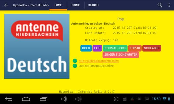 HypnoBox Internet Radio apk screenshot