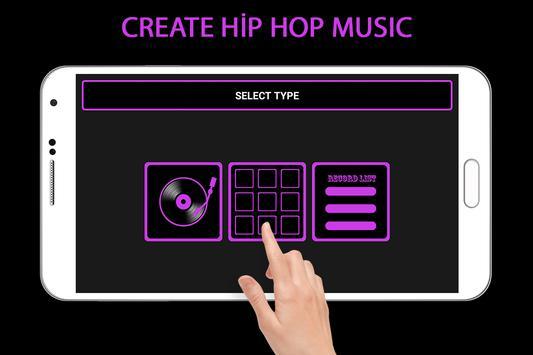 Crear Hip Hop Music captura de pantalla de la apk
