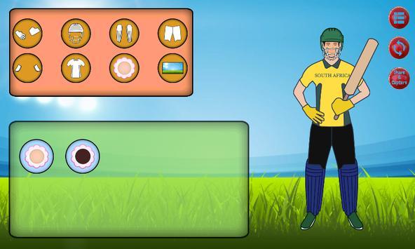 Cricket Dress Up screenshot 2