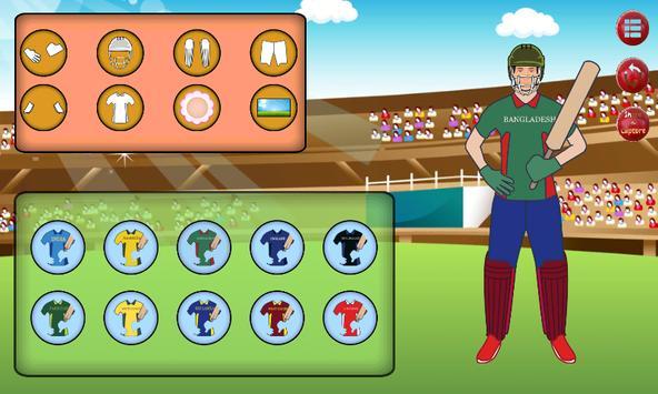 Cricket Dress Up screenshot 3