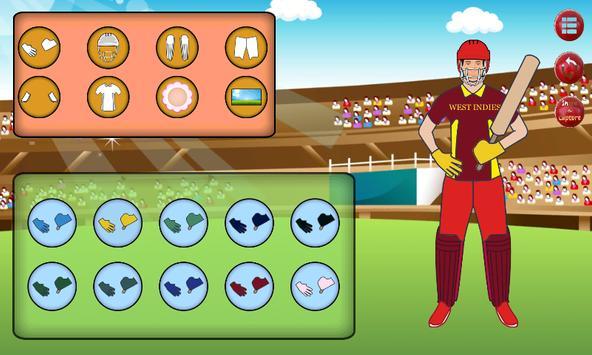 Cricket Dress Up screenshot 4