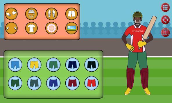 Cricket Dress Up screenshot 5