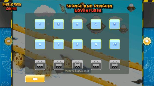Sponge and Penguin Ski poster