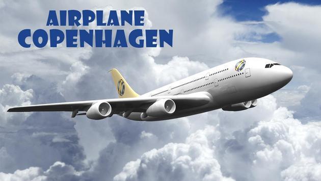 Airplane Copenhagen poster