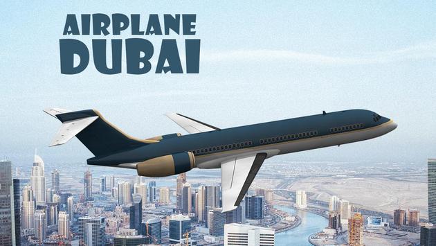 Airplane Dubai poster