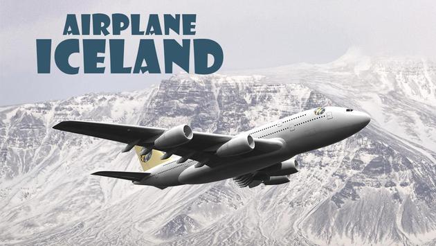 Airplane Iceland poster
