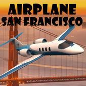 Airplane San Francisco icon