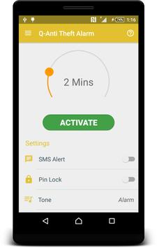 Q-Anti Theft Alarm apk screenshot