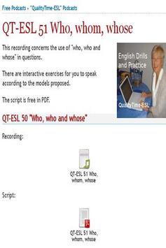 QualityTime-ESL Podcasts apk screenshot