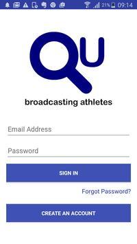 QU Athlete poster
