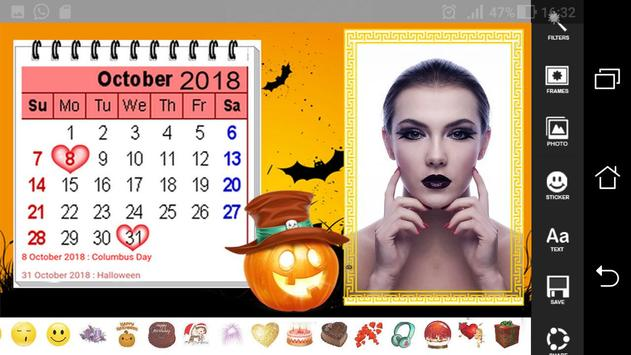 HD Calendar Photo Frames 2018 screenshot 3