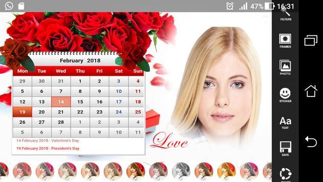 HD Calendar Photo Frames 2018 screenshot 2