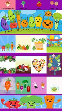 Vegetables Greeting Cards poster