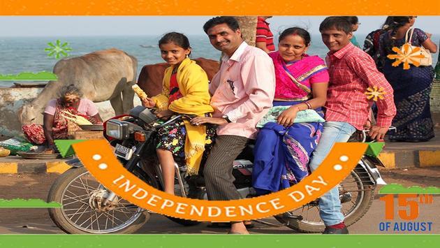 स्वतंत्रता दिवस भारत फोटो ग्रिड poster