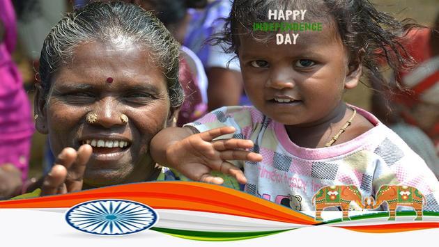 स्वतंत्रता दिवस भारत फोटो ग्रिड screenshot 1