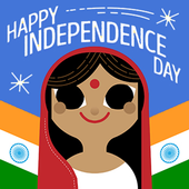 Independence Day Greeting Cards 15 Aug icon
