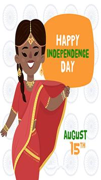 Independence Day Greeting Cards 15 Aug poster