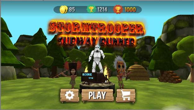 Stormtrooper Subway Runner Indian Adventure poster