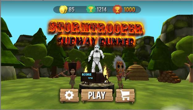 Stormtrooper Subway Runner poster