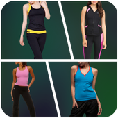 Fitness Girl Photo Suit icon