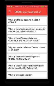 COBOL Interview Questions screenshot 1