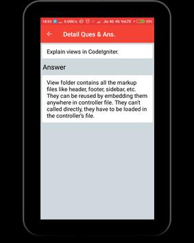 CodeIgniter Interview Question apk screenshot