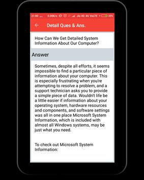 Computer Basic Q&A apk screenshot