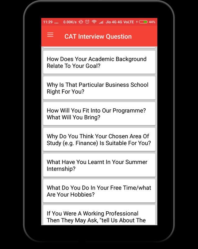 cat interview questions