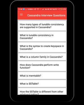 Cassandra Interview Questions apk screenshot