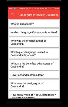 Cassandra Interview Questions poster
