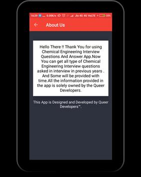 Chemical Engineering Q&A apk screenshot