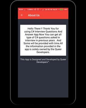 C# Interview Questions apk screenshot