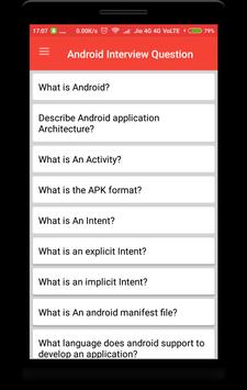 Interview Question for Android poster