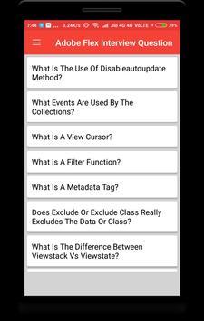 Adobe Flex Interview Question poster