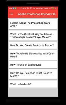 Adobe Photoshop Interview Question screenshot 1