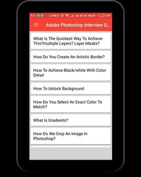 Adobe Photoshop Interview Question screenshot 8