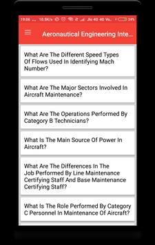 Aeronautical Engineering Interview Question screenshot 1
