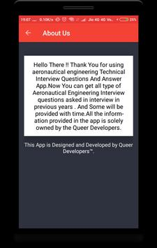 Aeronautical Engineering Interview Question screenshot 7