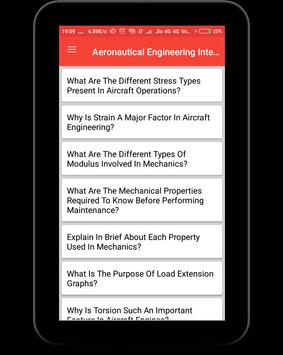Aeronautical Engineering Interview Question screenshot 9