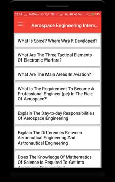 Aerospace Engineering Interview Question poster