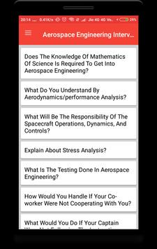 Aerospace Engineering Interview Question apk screenshot