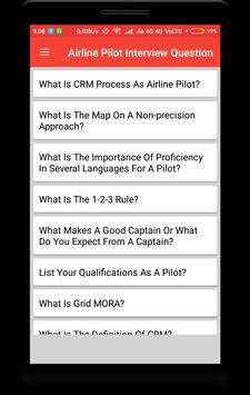 Airline Pilot Interview Question poster