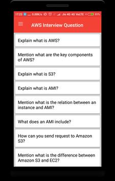 AWS Interview Question poster