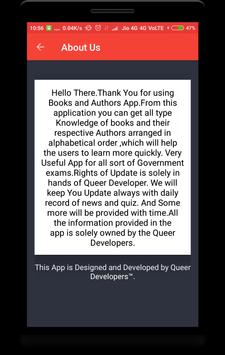 Books and Authors apk screenshot