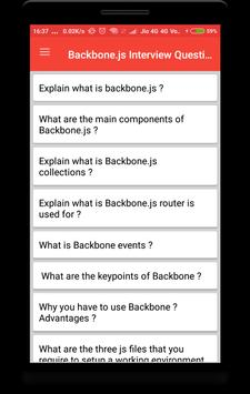 Backbone.js Interview Question poster