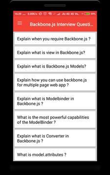Backbone.js Interview Question screenshot 1