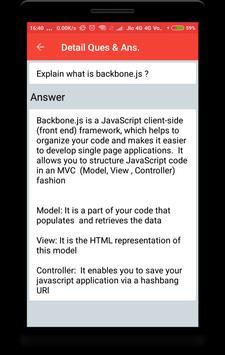 Backbone.js Interview Question apk screenshot