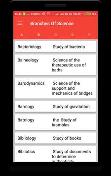 Branches of Science screenshot 1