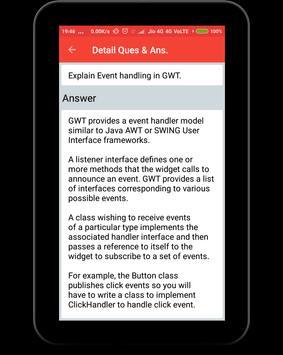 GWT Interview Questions apk screenshot