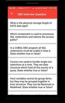 DB2 Interview Question screenshot 1